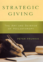 Press Release: Frumkin, Strategic Giving
