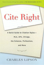 Press Release: Lipson, Cite Right