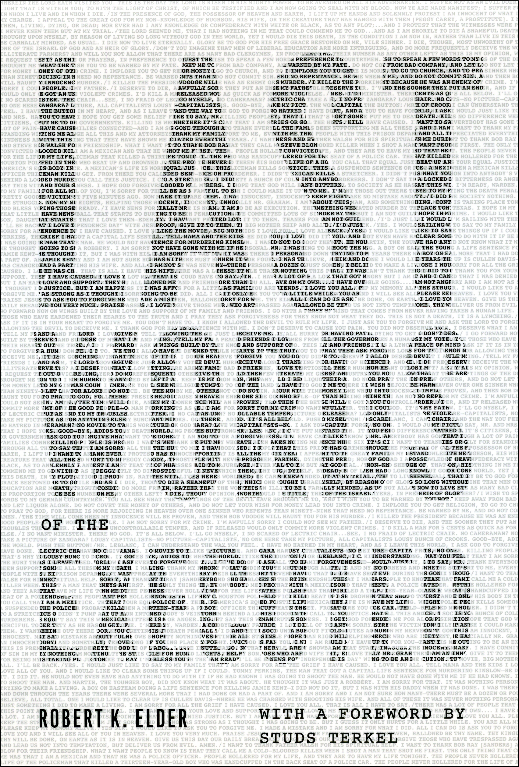 An interview with Rob Elder, author of Last Words of the Executed