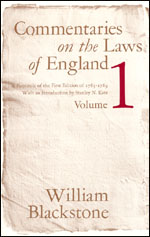 Commentaries on the Laws of England, Volume 1