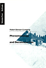 Phenomenology and Deconstruction, Volume Four: Solitude