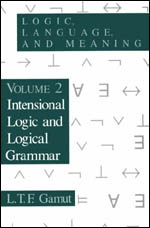 Logic, Language, and Meaning, Volume 2