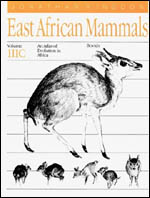 East African Mammals: An Atlas of Evolution in Africa, Volume 3, Part C: Bovids