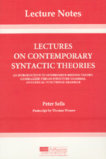 Lectures on Contemporary Syntactic Theories: An Introduction to Government-Binding Theory, Generalized Phrase Structure Grammar, and Lexical-Function Grammar