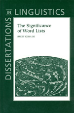 The Significance of Word Lists