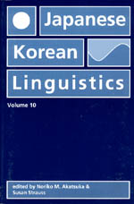 Japanese/Korean Linguistics, Volume 10