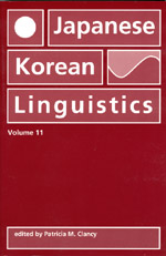 Japanese/Korean Linguistics, Volume 11