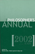 The Philosopher's Annual, Volume 24