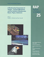 A Biodiversity Assessment of the Yongsu - Cyclops Mountains and the Southern Mamberamo Basin, Northern Papua, Indonesia