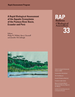 A Biological Assessment of the Aquatic Ecosystems of the Pastaza River Basin, Ecuador and Peru