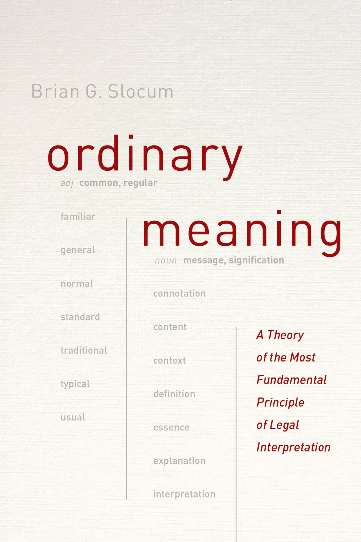 Ordinary Meaning