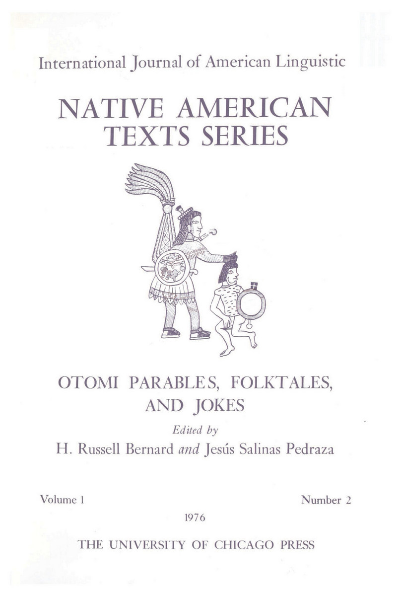 Otomi Parables, Folktales, and Jokes