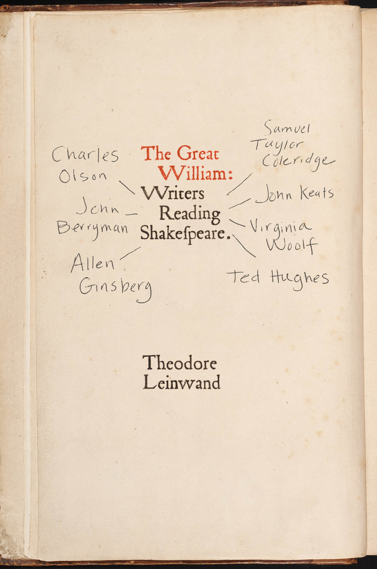 The Great William: Writers Reading Shakespeare