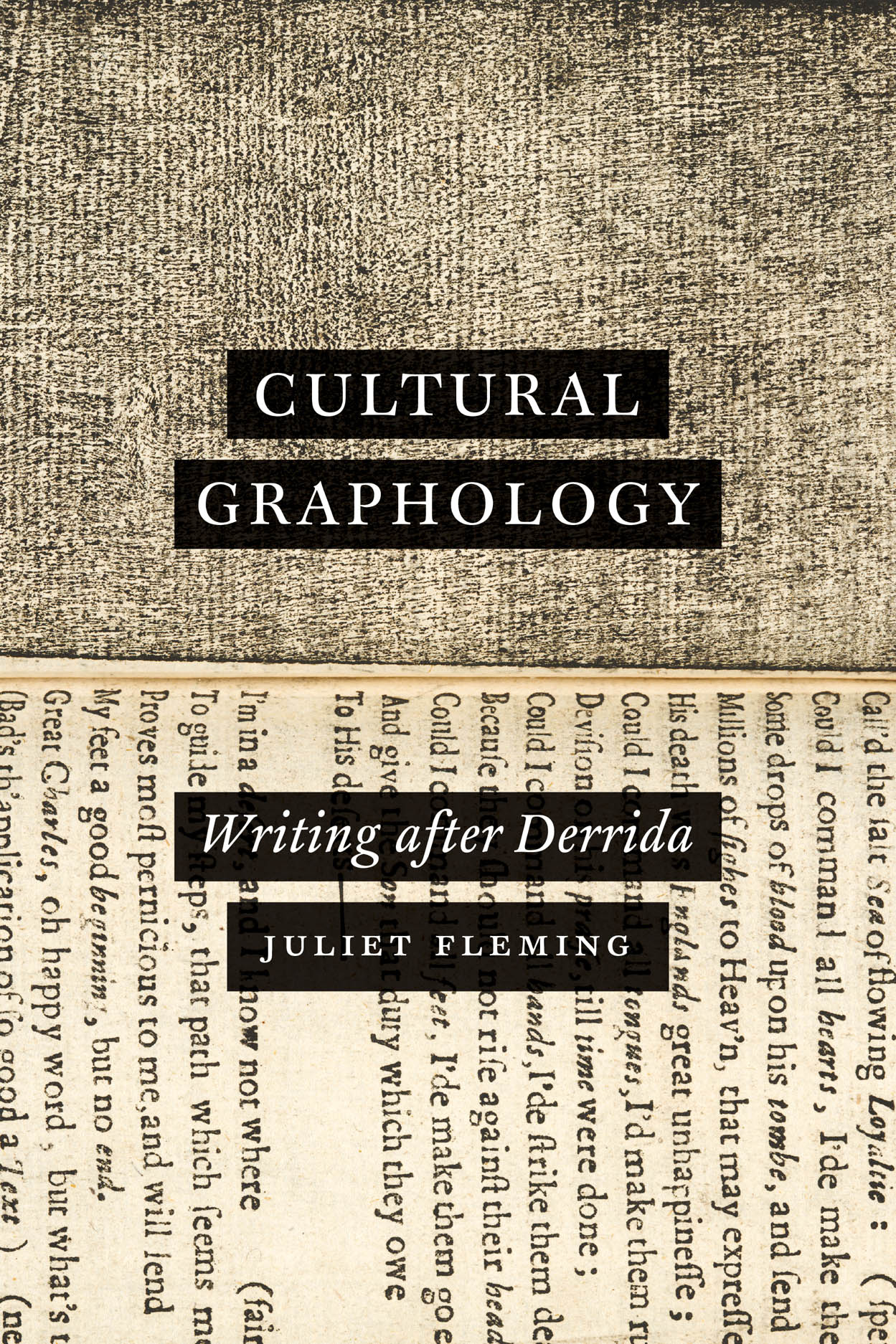Cultural Graphology: Writing after Derrida