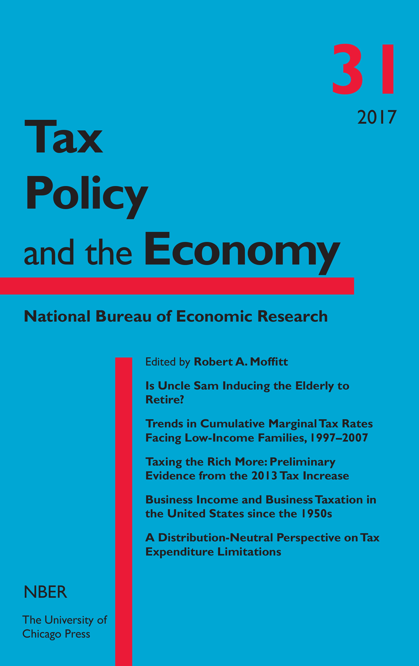 Tax Policy and the Economy, Volume 31