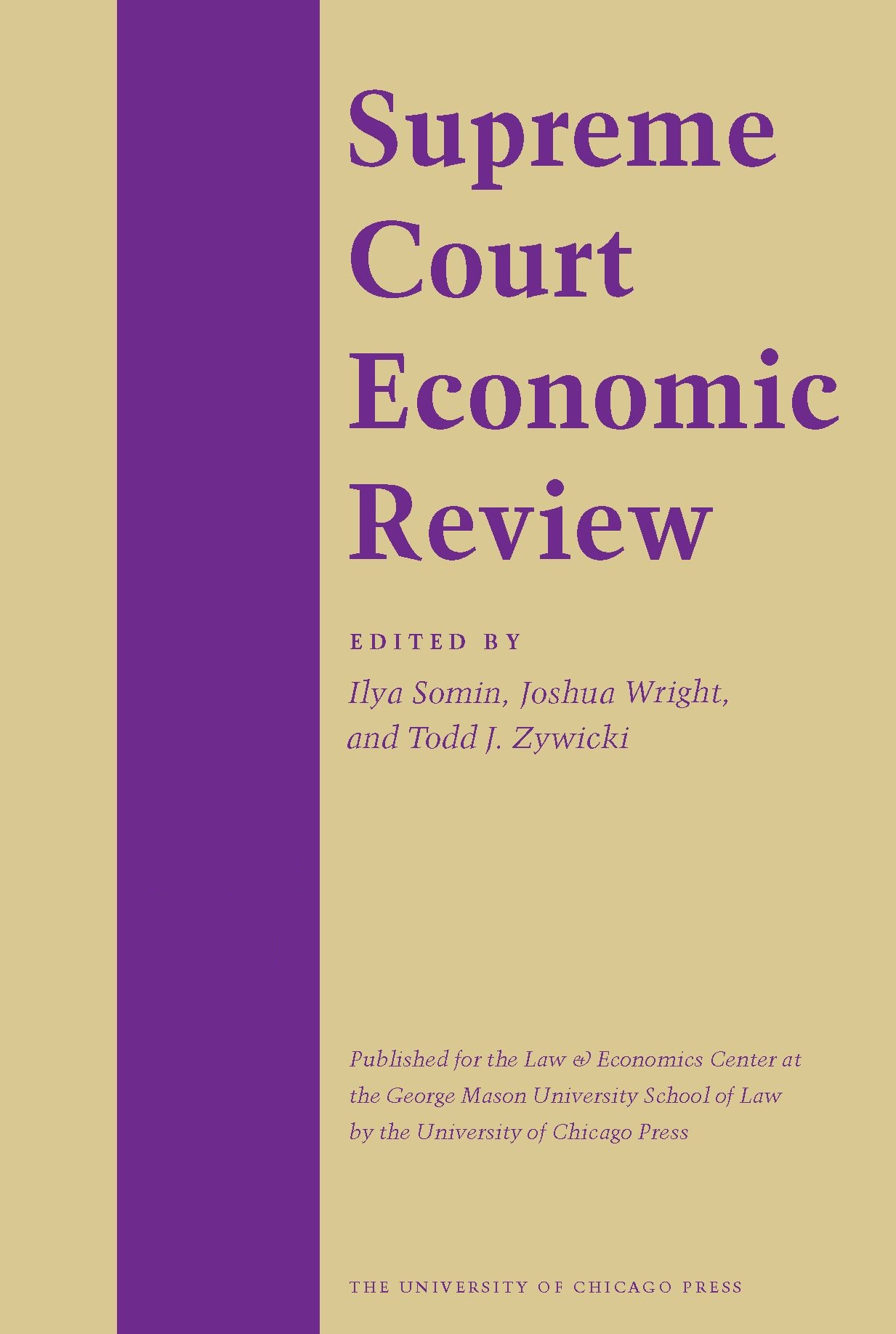 Supreme Court Economic Review, Volume 25