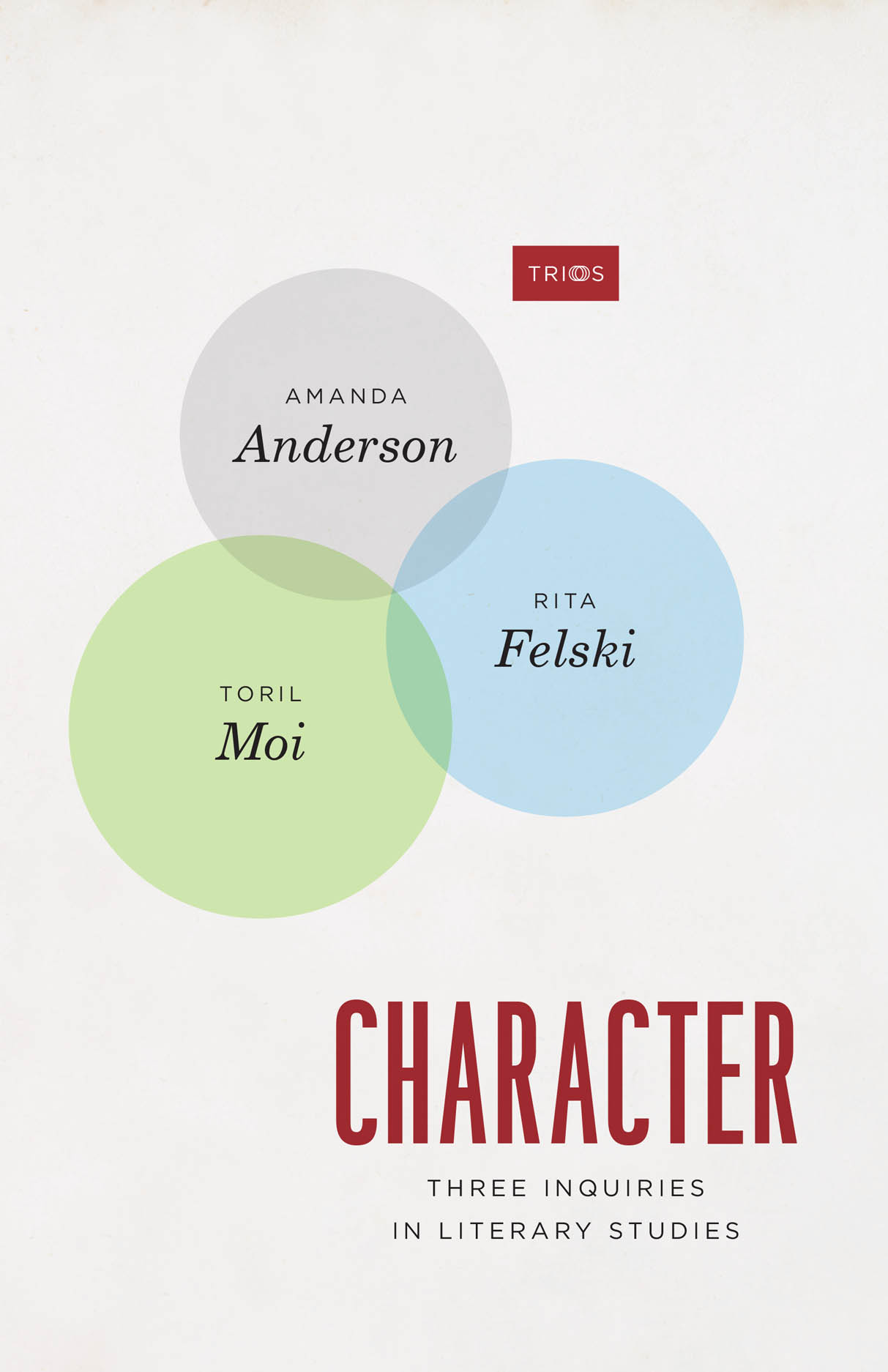 Character: Three Inquiries in Literary Studies