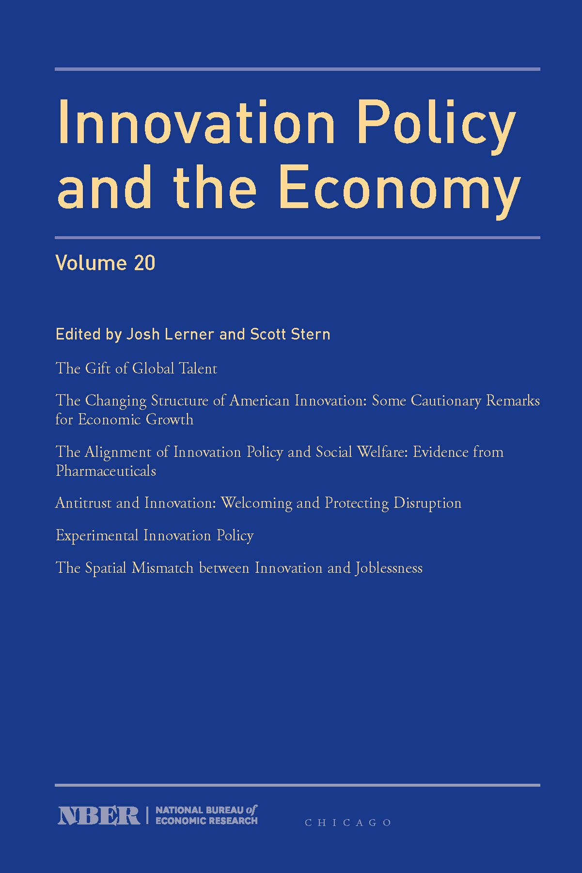 Innovation Policy and the Economy, 2019: Volume 20