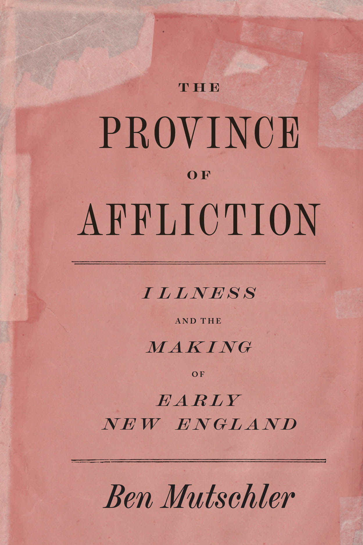 The Province of Affliction: Illness and the Making of Early New England