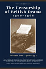 Censorship of British Drama 1900-1968 Volume 1