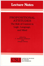 Propositional Attitudes: The Role of Content in Logic, Language, and Mind