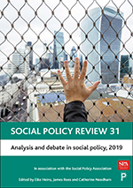 Social Policy Review 31: Analysis and Debate in Social Policy, 2019
