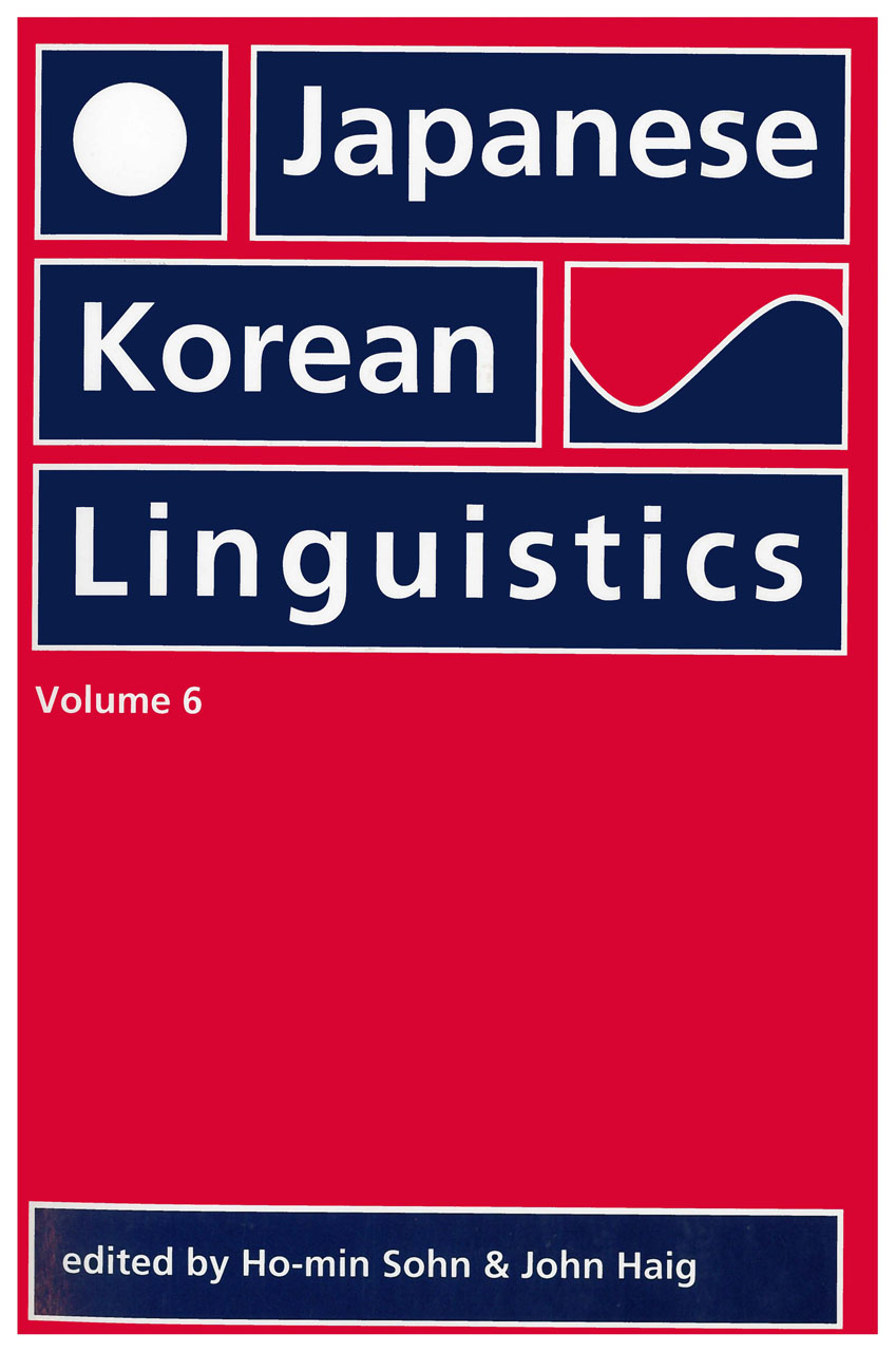 Japanese/Korean Linguistics, Volume 6
