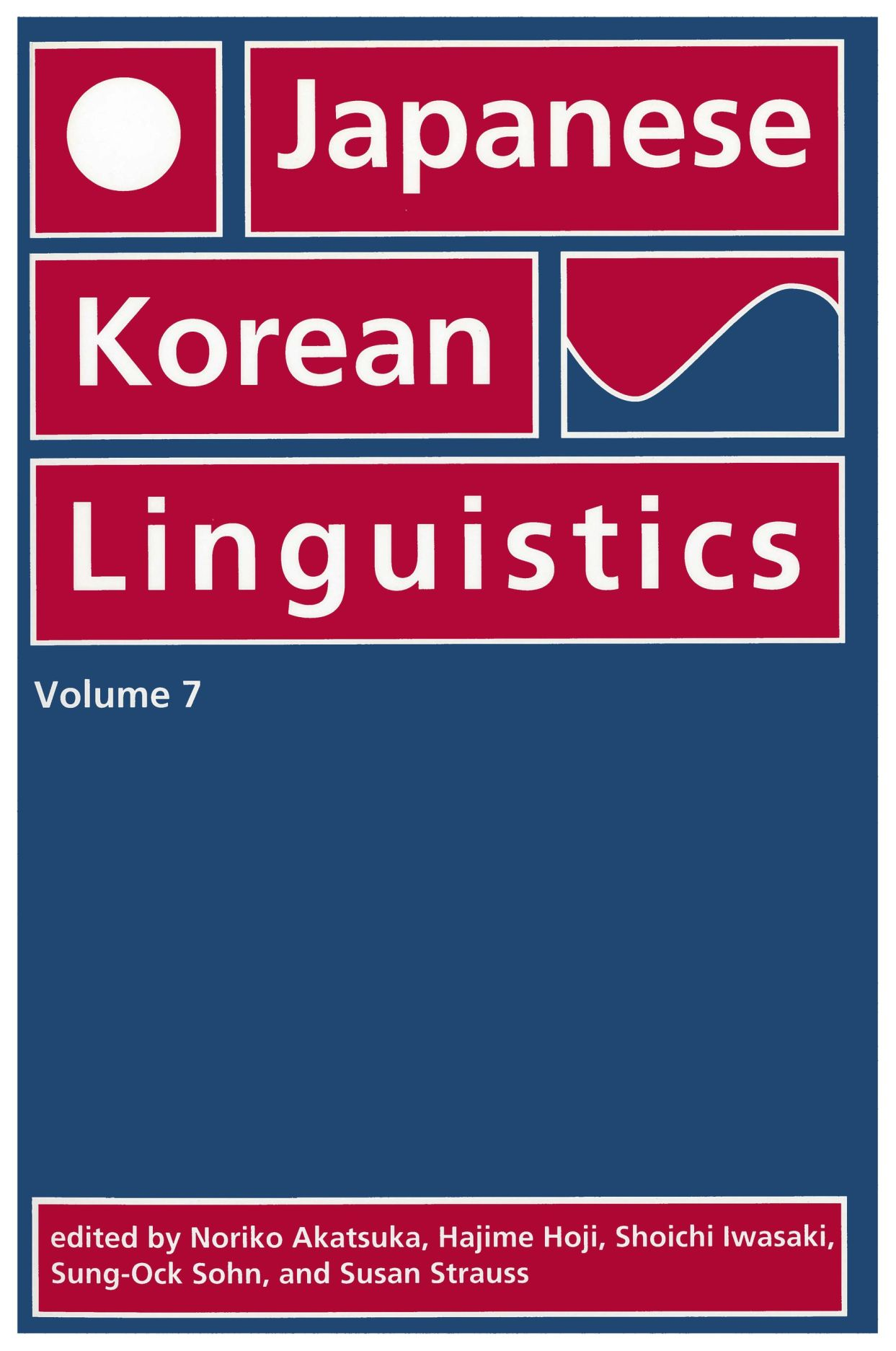 Japanese/Korean Linguistics, Volume 7