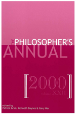 The Philosopher's Annual, Volume 22