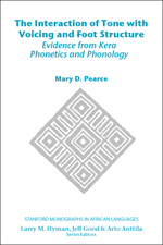 The Interaction of Tone with Voicing and Foot Structure: Evidence from Kera Phonetics and Phonology