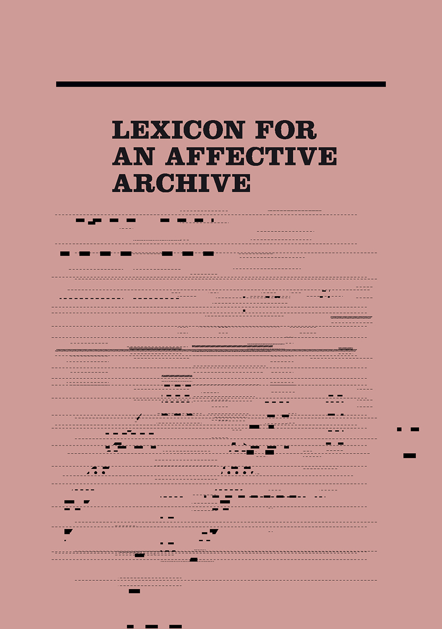 Lexicon for an Affective Archive