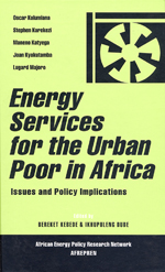 Energy Services for the Urban Poor in Africa: Issues and Policy Implications