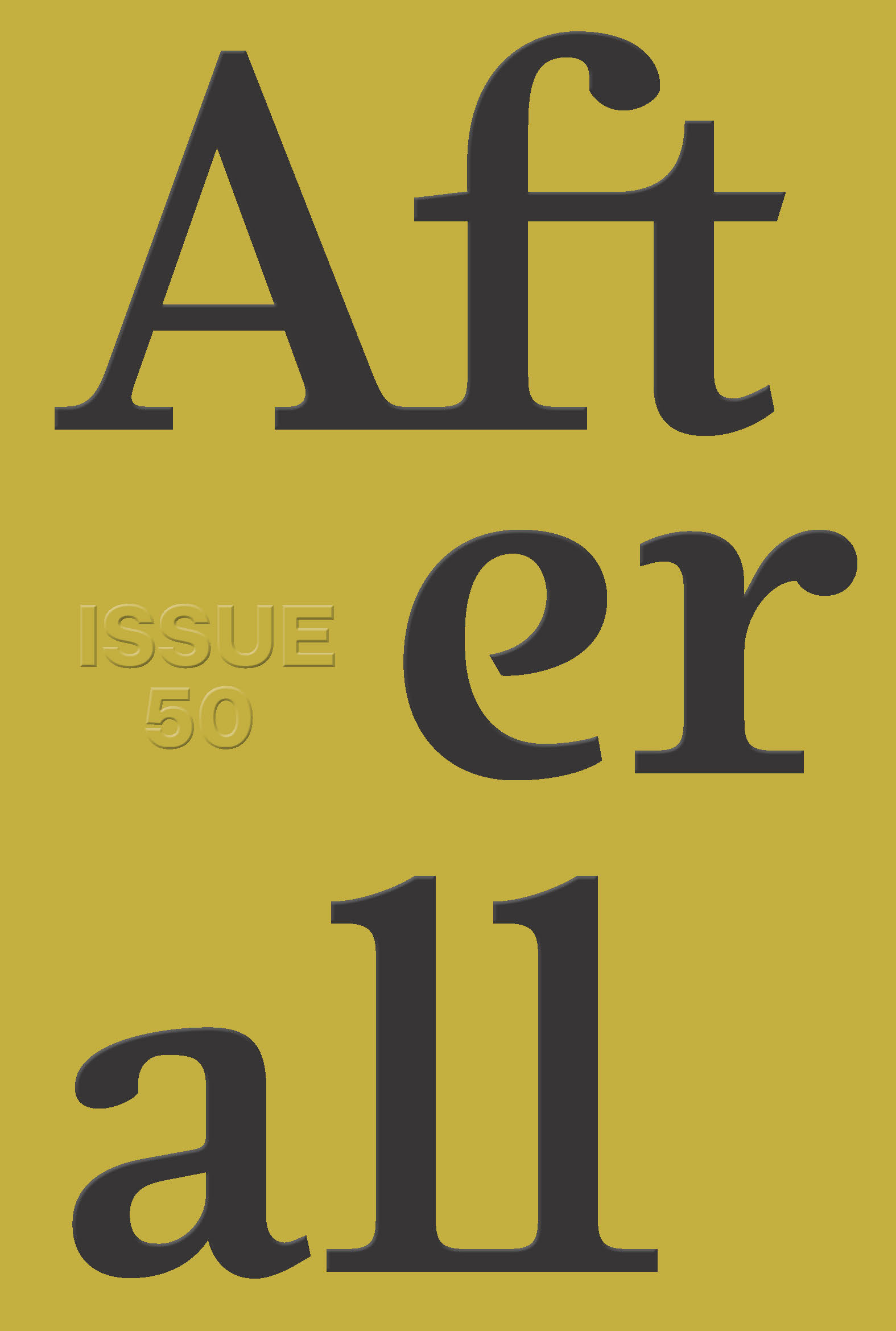 Afterall: Autumn/Winter 2020, Issue 50