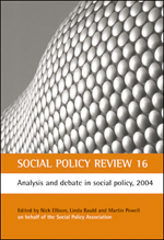 Social Policy Review 16: Analysis and debate in social policy, 2004