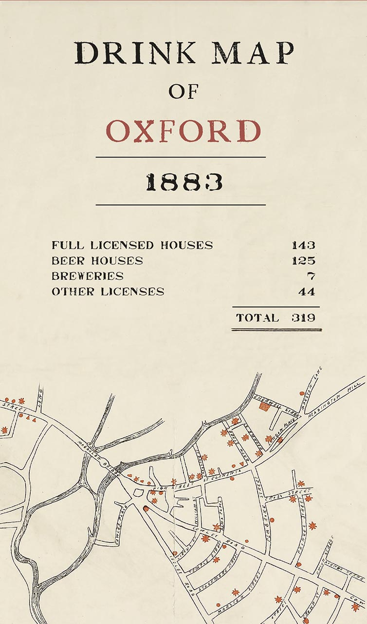 The Drink Map of Oxford