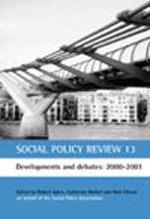 Social Policy Review 13: Developments and debates: 2000-2001
