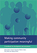 Making community participation meaningful: A handbook for development and assessment