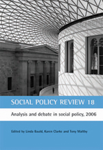 Social Policy Review 18: Analysis and debate in social policy, 2006