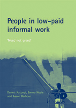 People in low-paid informal work