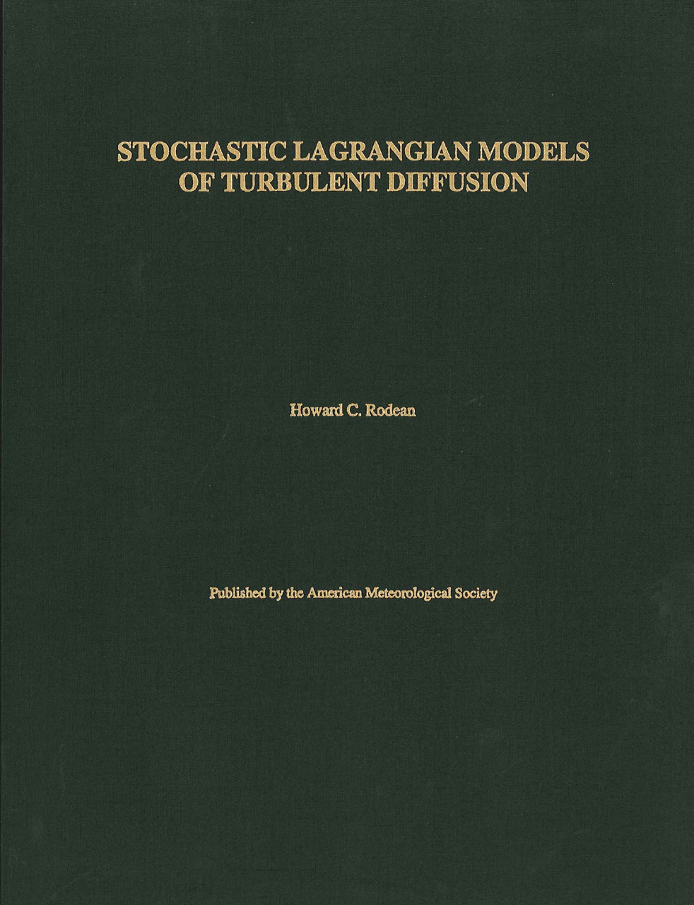 Stochastic Lagrangian Models of Turbulent Diffusion