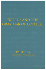 Words and the Grammar of Context