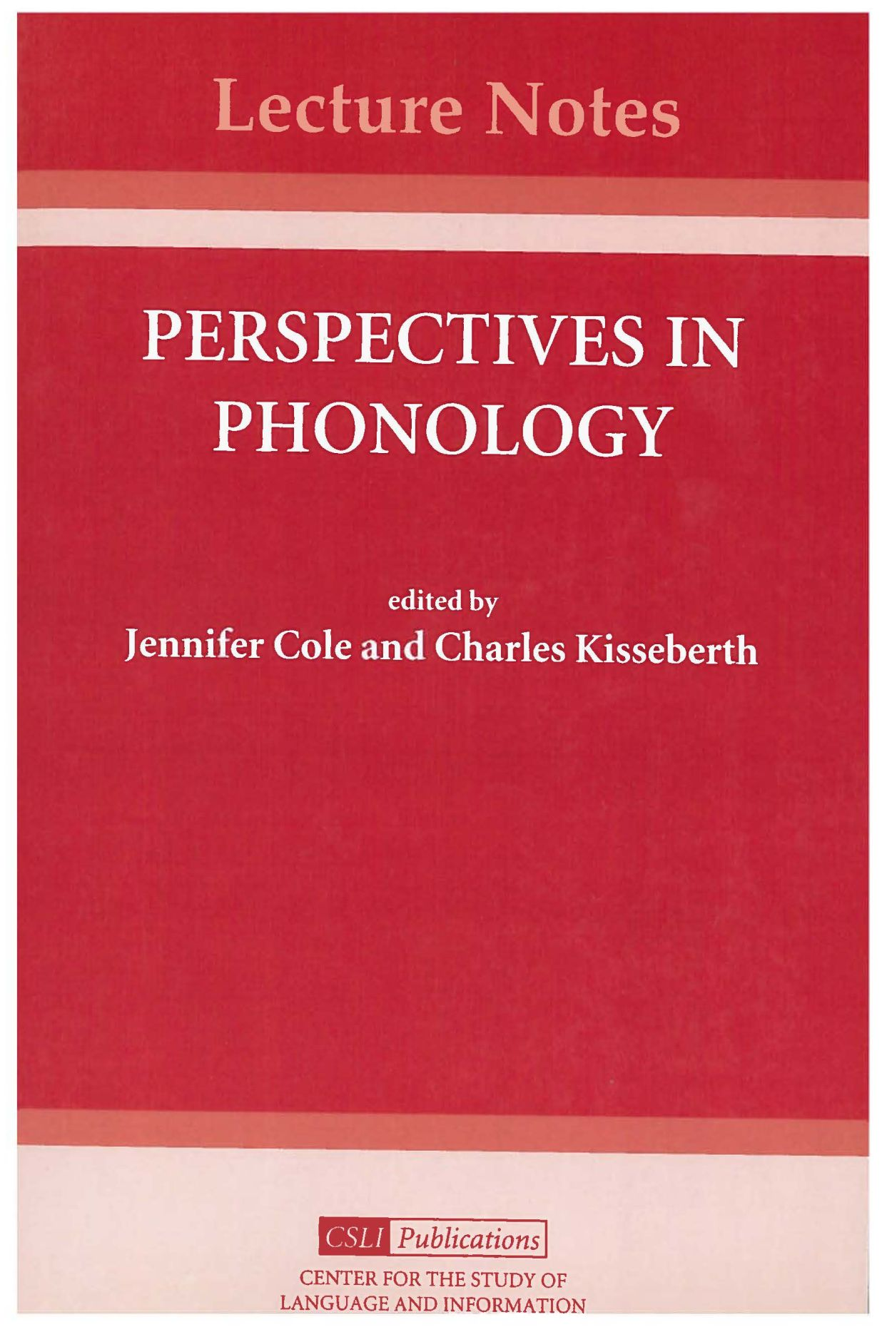 Perspectives in Phonology