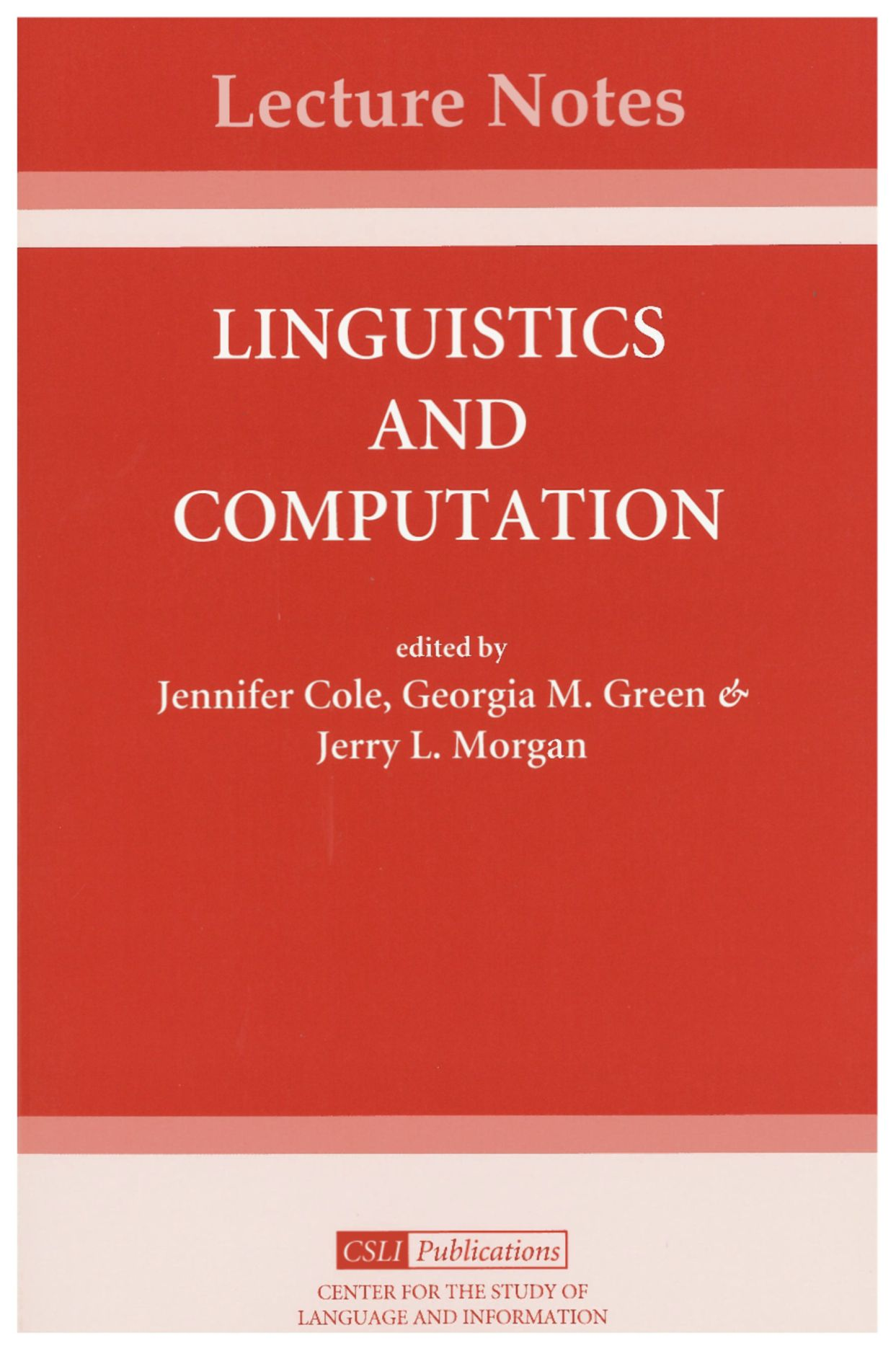 Linguistics and Computation