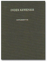 Index Kewensis: Supplement 20 (1991-1995)