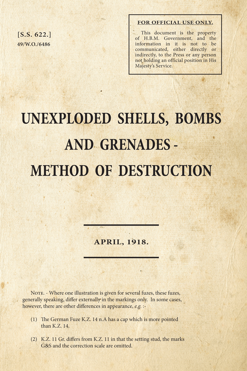 Unexploded Shells, Bombs and Grenades - Method of Destruction