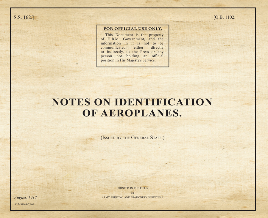 Notes on Identification of Aeroplanes