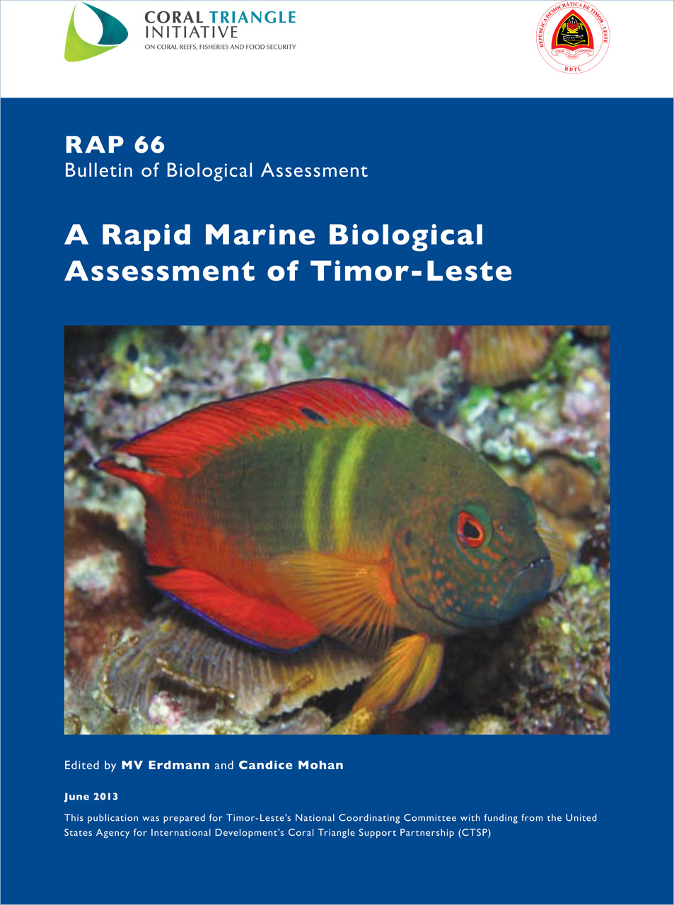 A Rapid Marine Biological Assessment of Timor-Leste: RAP Bulletin of Biological Assessment 66