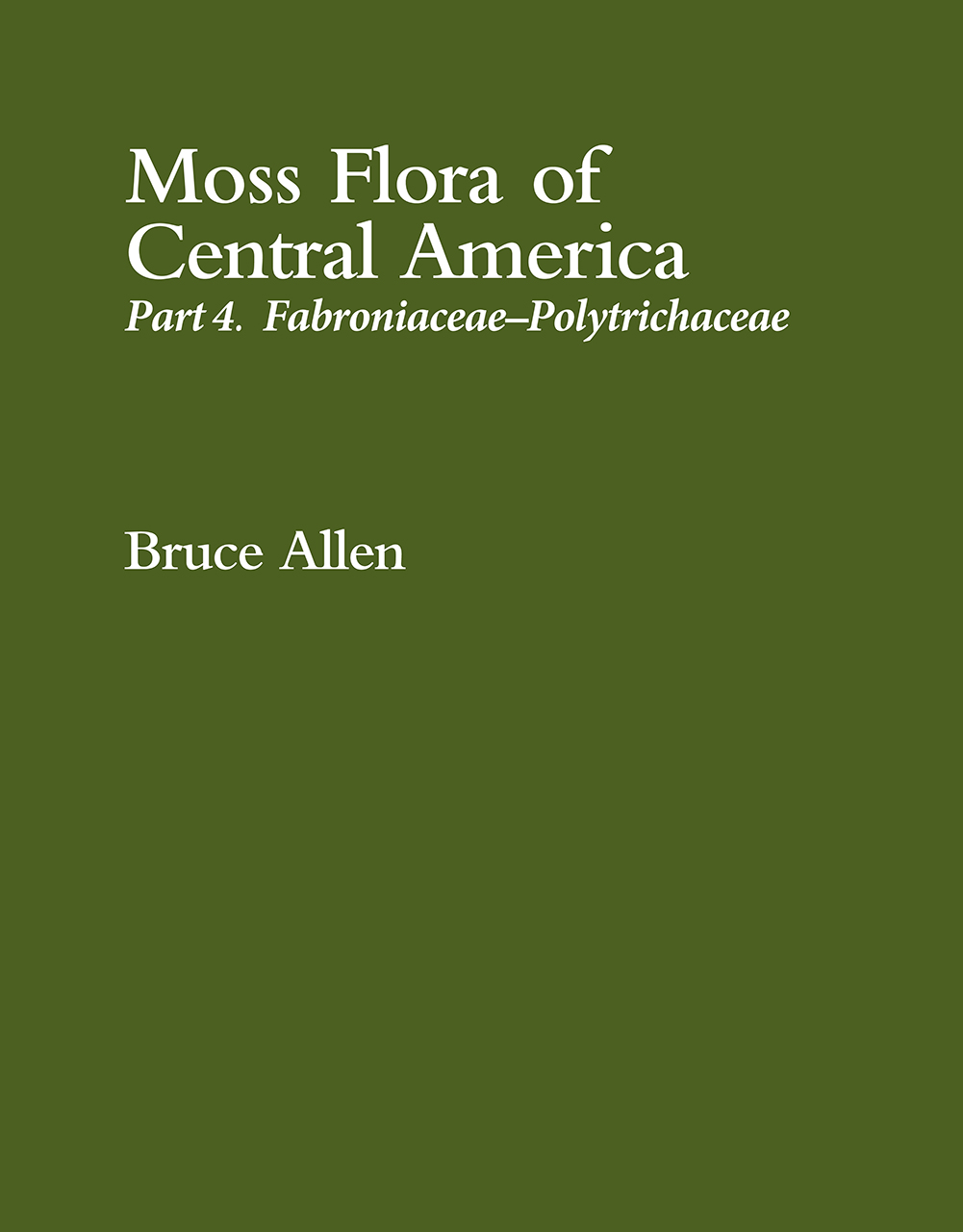 Moss Flora of Central America
