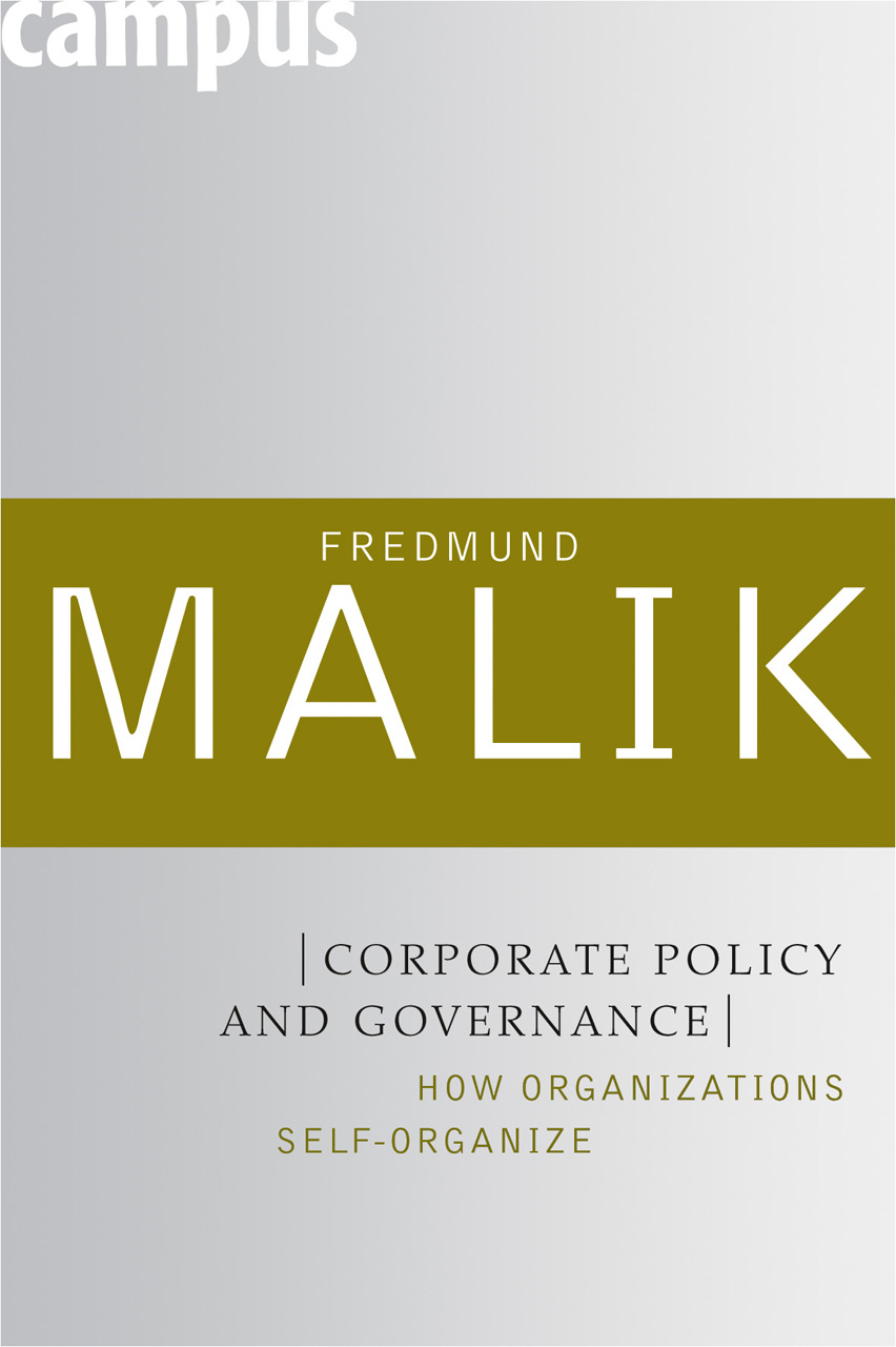 Corporate Policy and Governance: How Organizations Self-Organize