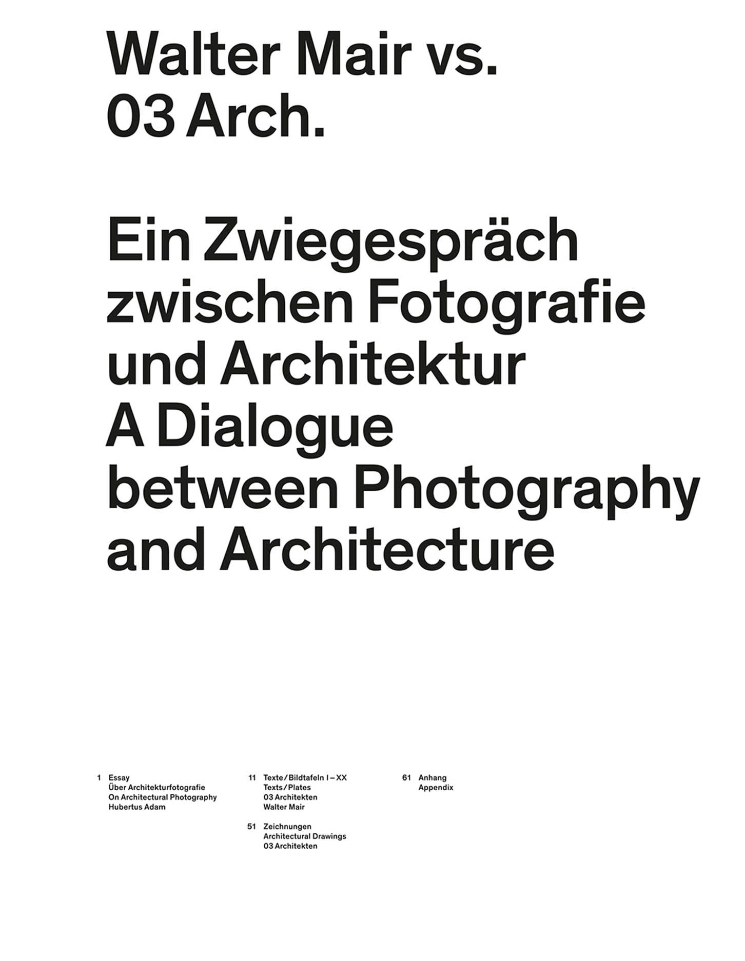 Walter Mair vs. 03 Architects: A Dialogue Between Photography and Architecture
